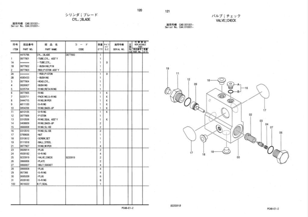 Hitachi Zaxis 130W Parts Catalog Manual