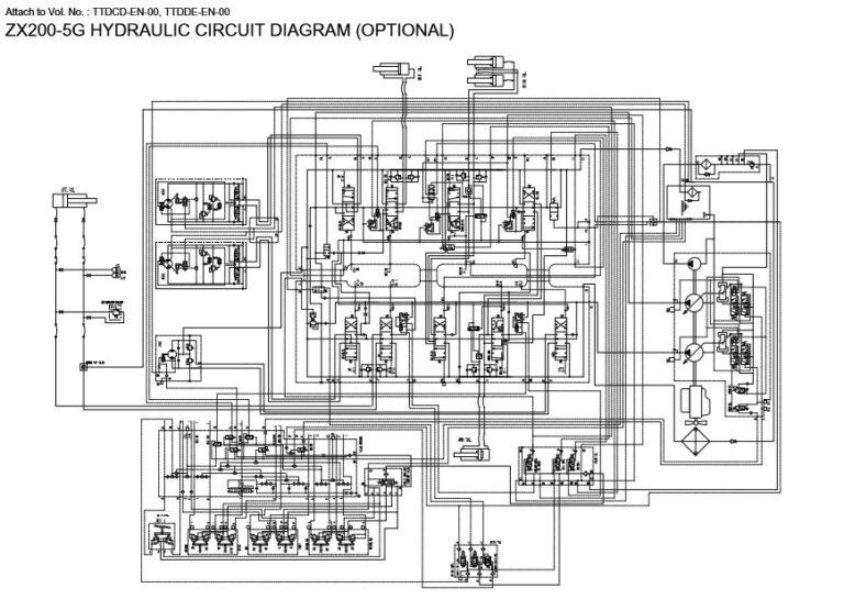 Hitachi ZX330-5G, ZX350-5G Series Workshop Manual and Diagrams