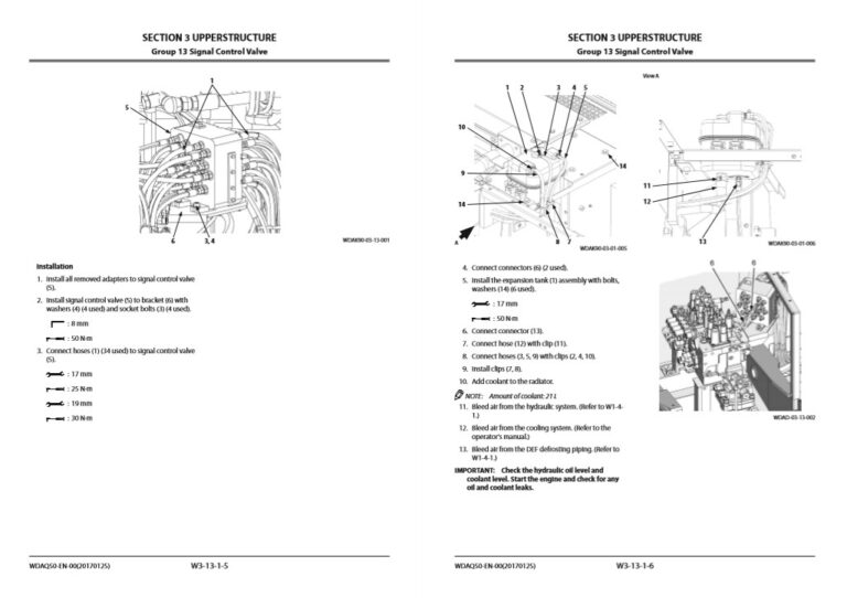 Hitachi ZX130-6, ZX130LCN-6 Workshop Manual and Diagrams