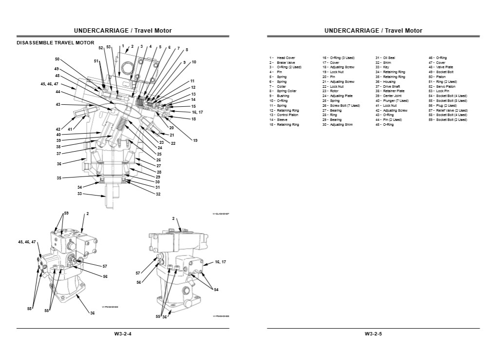 Hitachi Zaxis ZX160W Workshop Manual and Diagrams