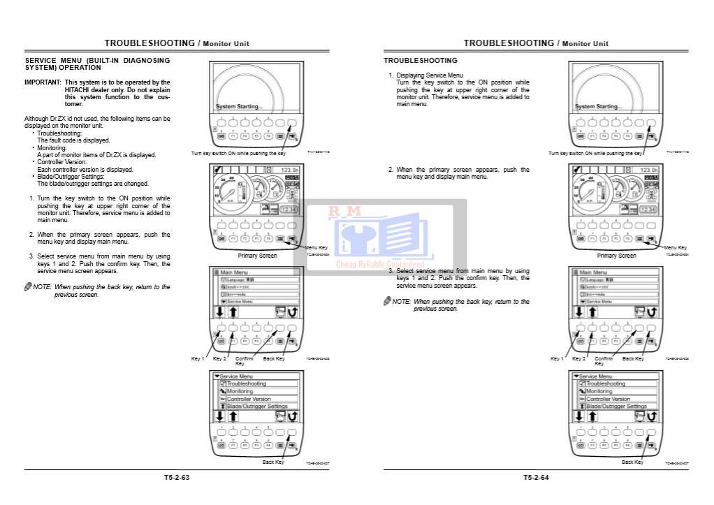 Hitachi ZX140W-3 Technical Manuals