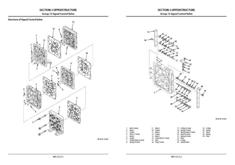 Hitachi ZX870-5B Series Workshop Manual and Diagrams
