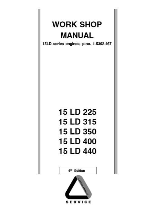 Lombardini 15LD Series Engines Workshop Manual