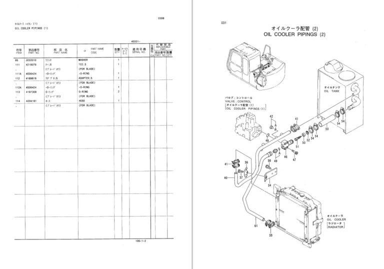 Hitachi EX60-3 Parts Manual