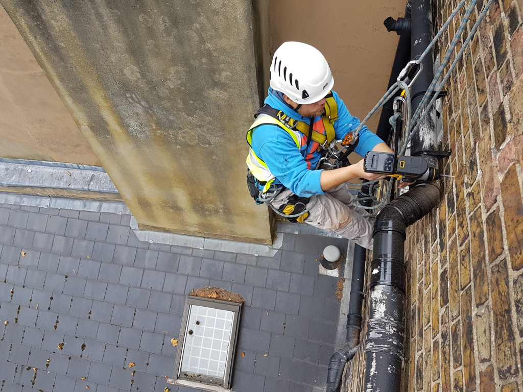 rope access soil pipe replacement