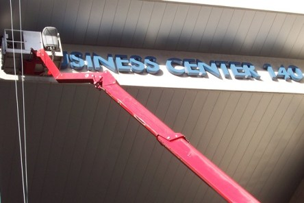lighting signage installation