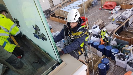 abseiling glass installation london