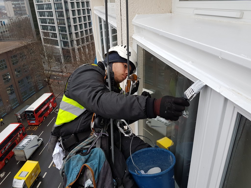 rope access window redecoration
