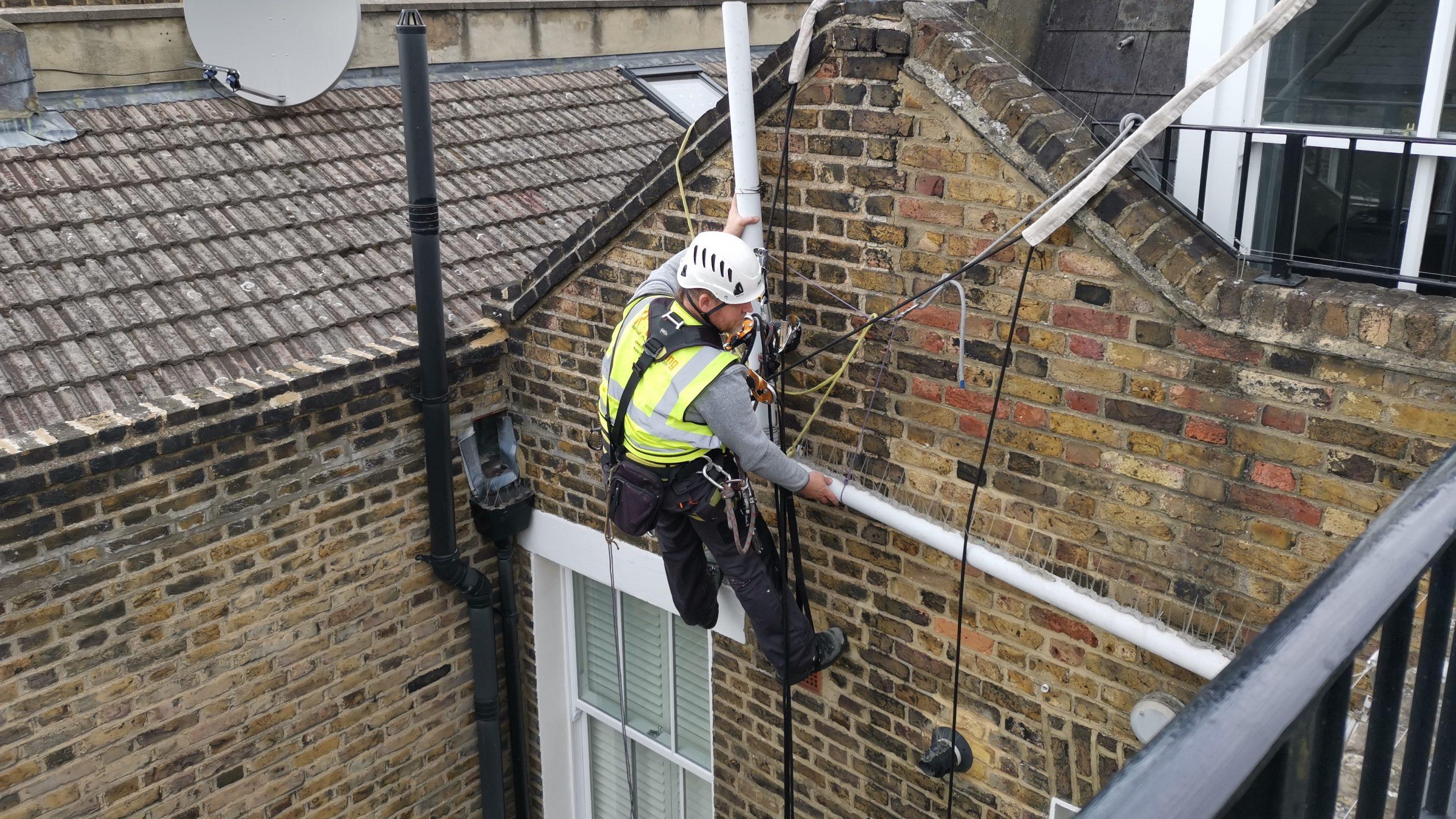 abseiling gutter maintenance