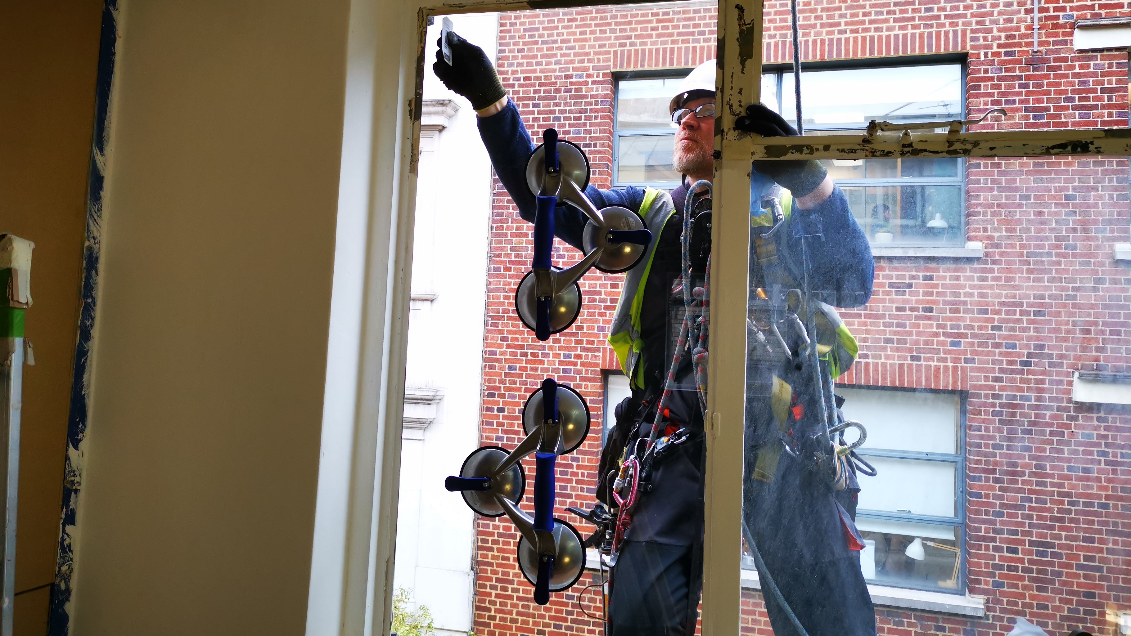 rope access glazing replacement