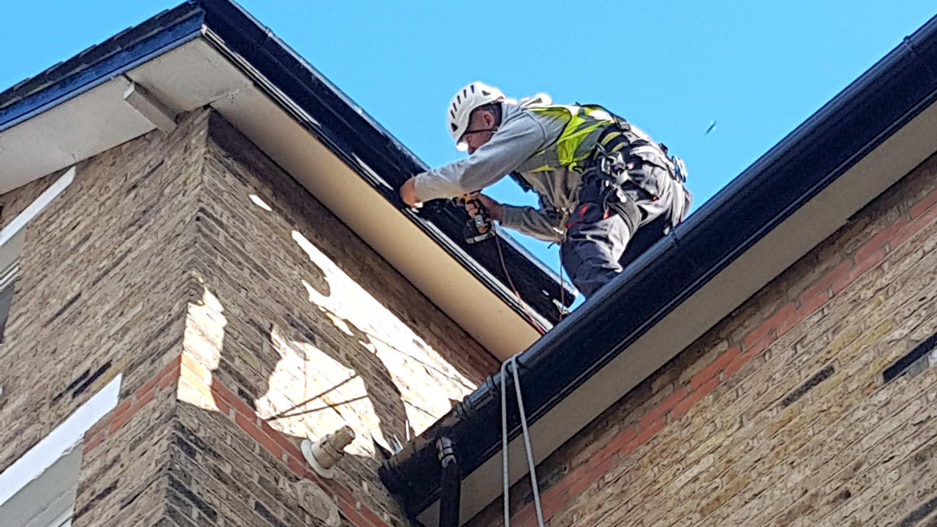abseiling roof maintenance