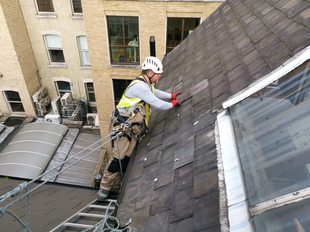 high level roof repair
