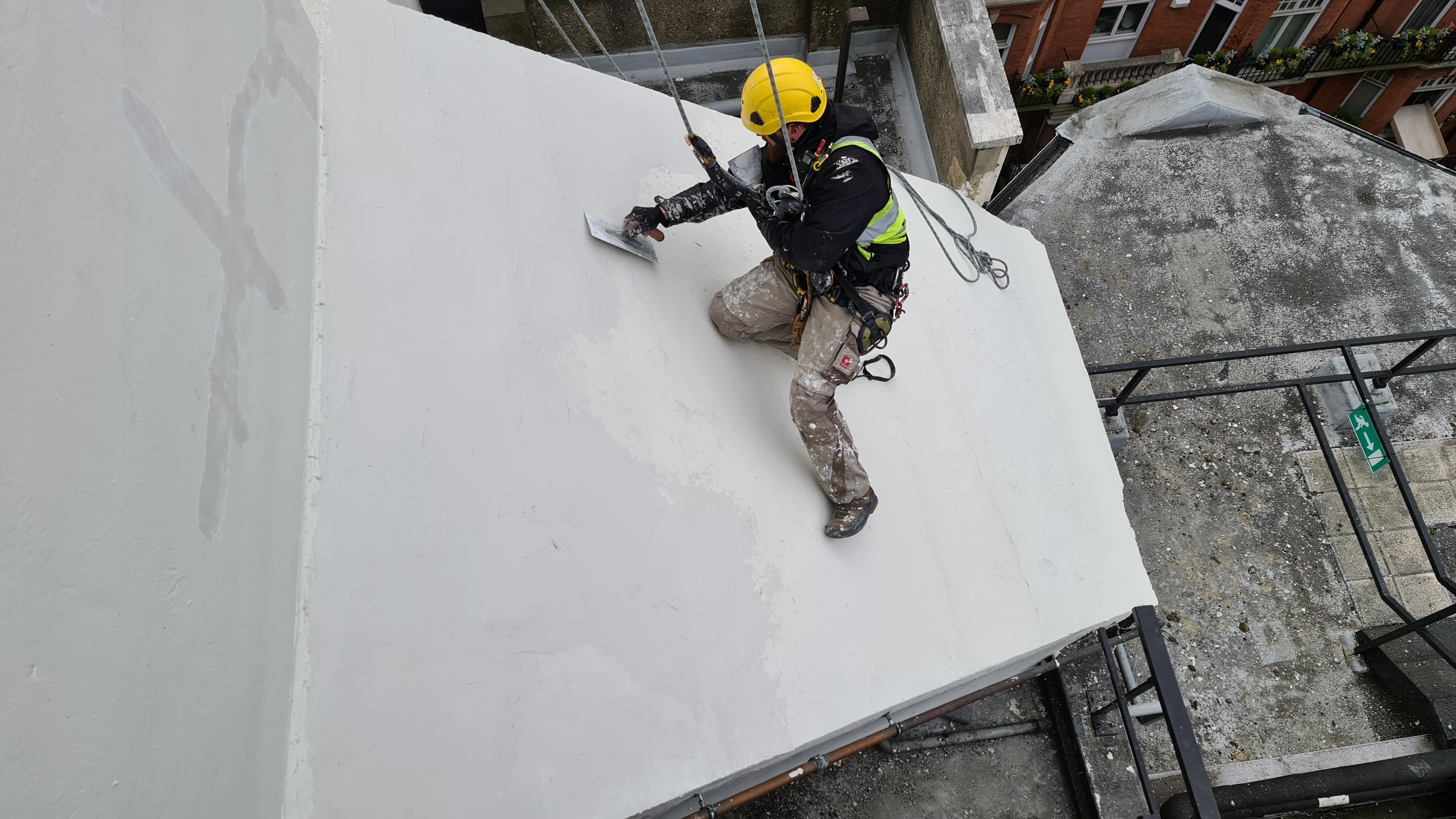 rope access abseiling plastering