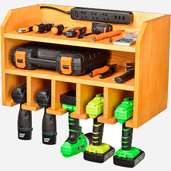 Drill-Charging-Station-Wall-Storage-Organizer