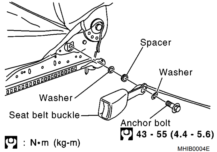 Nissan Micra Front Seat Belt Removal And Installation Guide