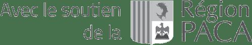 """Logo """"Avec le soutien de la Région PACA"""""""