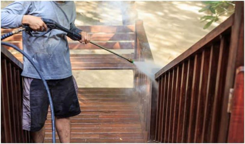 Power Washing the house