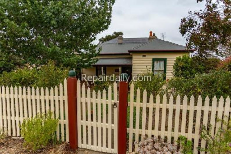 fence and house