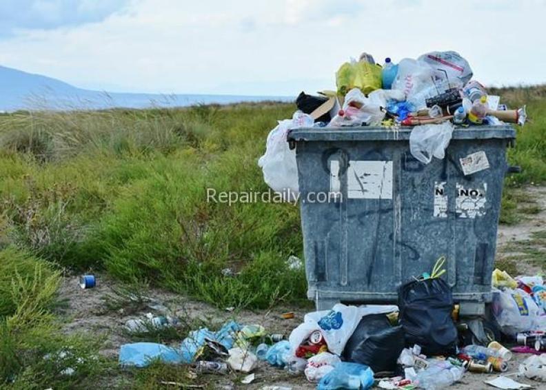 bin full of waste