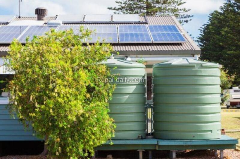green water tanks on your property