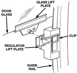 A power window regulator on a 1999 T&C van..diagrams