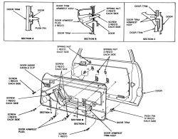 1988 Ford Mustang Door Handle 1994 Ford F250 Door Handle