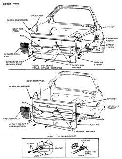 1993 Mercury Truck Villager Van 3.0L EFI SOHC 6cyl
