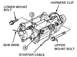 how to replace a starter in a 1995 honda accord 4 cyl