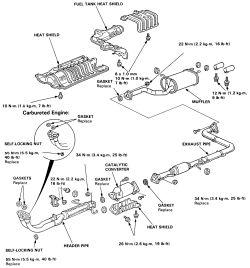 91 Honda Accord Exhaust Diagram Cadillac Escalade Exhaust
