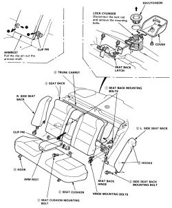 Service manual [Remove Frontseat 1990 Ford Taurus