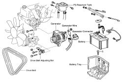 HowToRepairGuide.com: how to remove alternator on Toyota Hilux