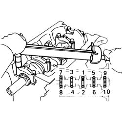 Toyota Engine Crankshaft Bearing Cap Crankshaft Key Wiring