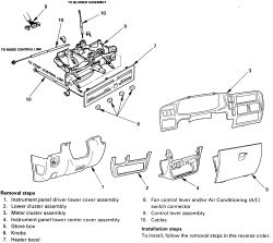 Service manual [2004 Isuzu Rodeo Heater Fan Remove