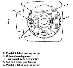 1992 pontiac: diagram..turn signal switch..steering column
