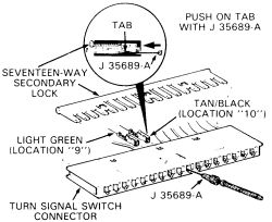 1992 pontiac: diagram..turn signal switch..steering column