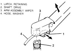 How do you replace the windshield wiper motor on a 1995