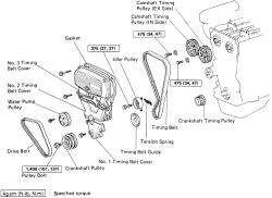 1996 toyota corolla belt diagram franklin electric motor wiring repair guides engine mechanical timing cover autozone com click image to see an enlarged view
