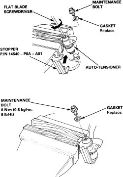 special instructions for the timing belt tensioner 99