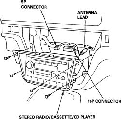 Solved: How to remove radio on Acura Car models?