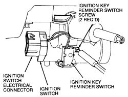 1993 Ford Escort: ignition switch (not the lock tumbler