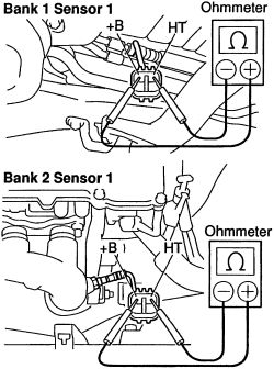 Toyota Camry Bank 1 Sensor 1 Location