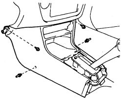 Camry: the entire center console to replace the bulb..shifter