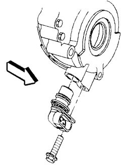 Where is the crank position sensor located on a 95 gmc