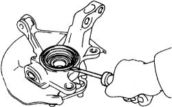 Replace front..front wheel bearing on 2000 corrolla?what