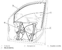 Nissan altima: side front window motor
