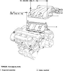 2005 sportage: intake manifold..spark plugs..a kia..v6