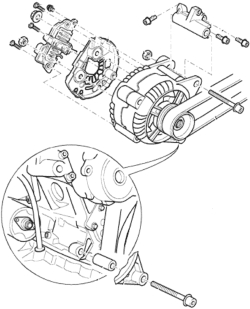 HowToRepairGuide.com: How to remove alternator on 2002 VW