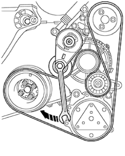 Beetle tdi: my serpentine belt came off on fwy i need diagram