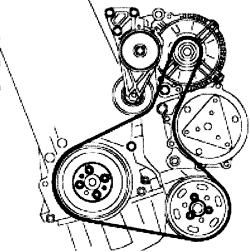 schematics and diagrams: Drive Belt Routing diagram for