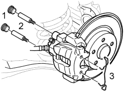 Change the rotor and brake pads on a 04 volvo s80 front